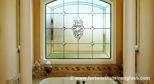 Stained Gl Bathroom Windows Fort Worth