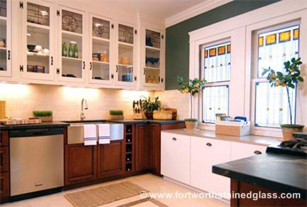 Kitchen Stained Glass Windows Cabinets San Antonio