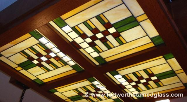 Frank Lloyd Wright Stained Glass Style Windows Fort