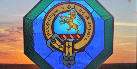 family crest stained glass panel fort worth