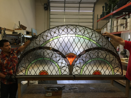 religious stained glass transom fort worth