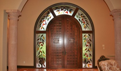 entryway stained glass