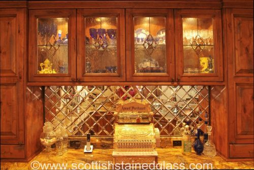 kitchen cabinet stained glass fort worth