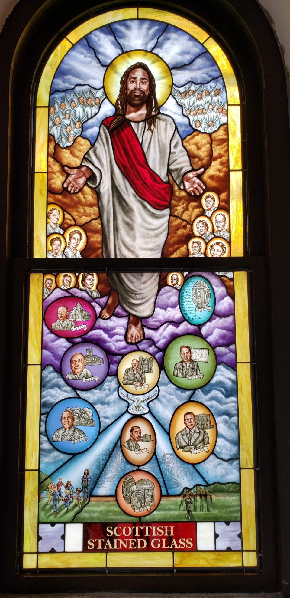tulsa ame church memorial stained glass