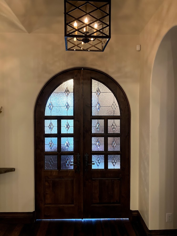 stained glass fort worth home